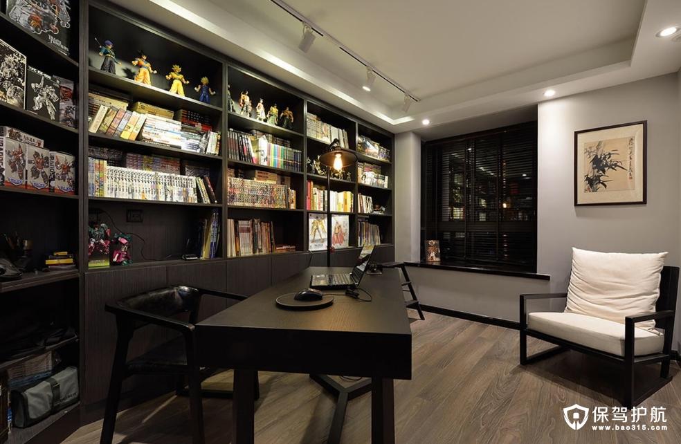 中式简约书房装修效果图
