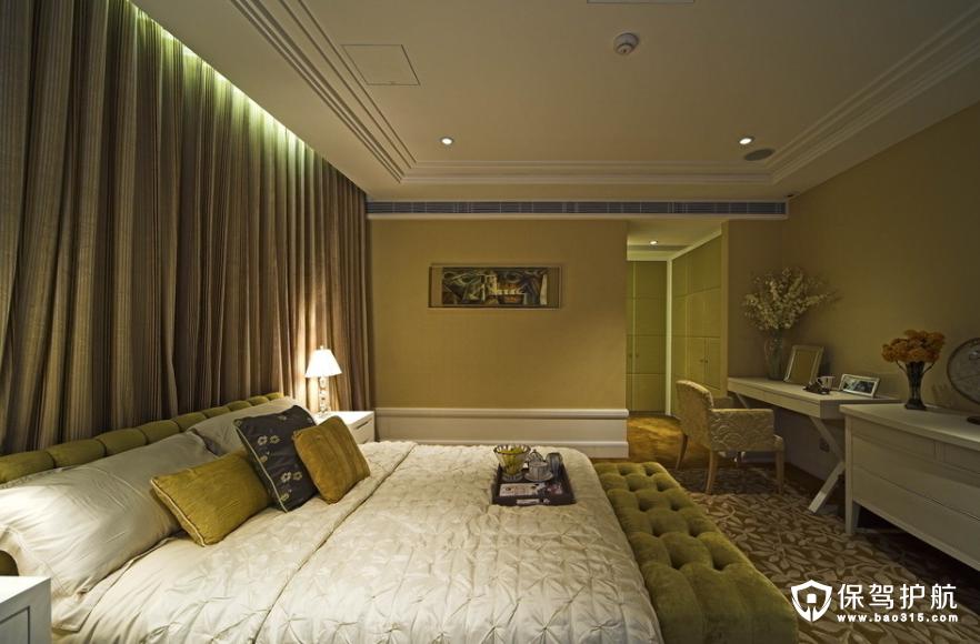 中式现代简约卧室装修效果图