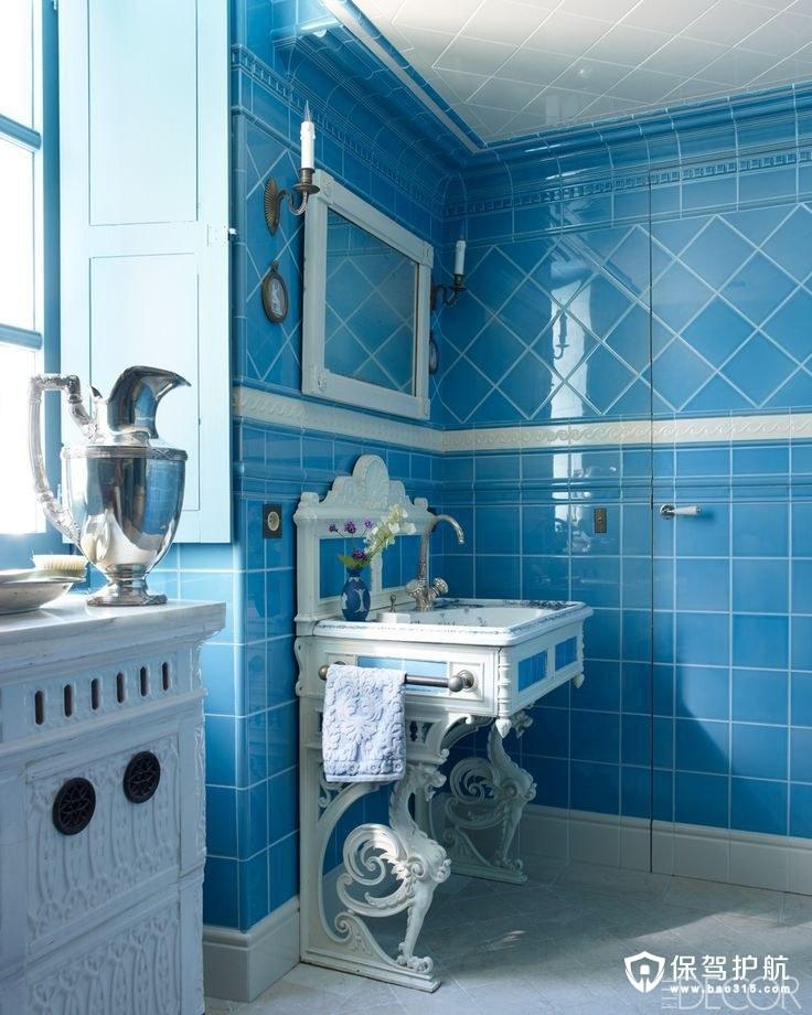 让你像泡在蓝色海洋里的浴室!