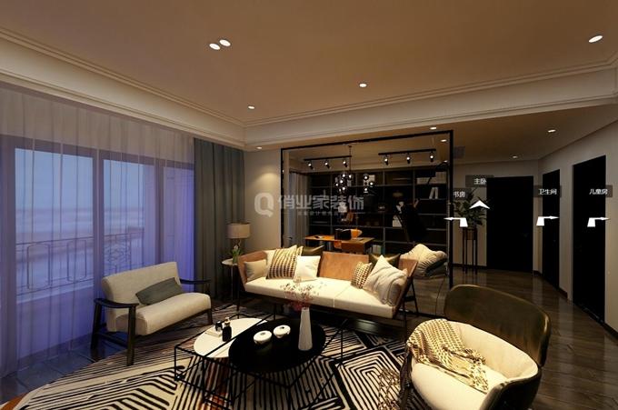 重庆保利高尔夫华庭 四居室 港式风格装修 设计效果图案例