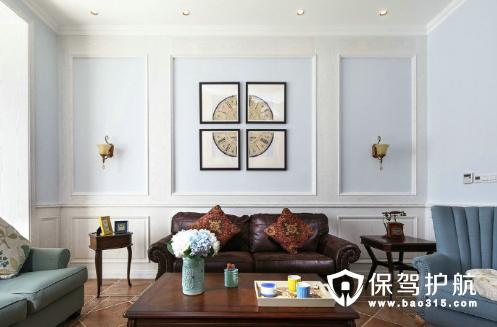 精致的美式三居室装修图
