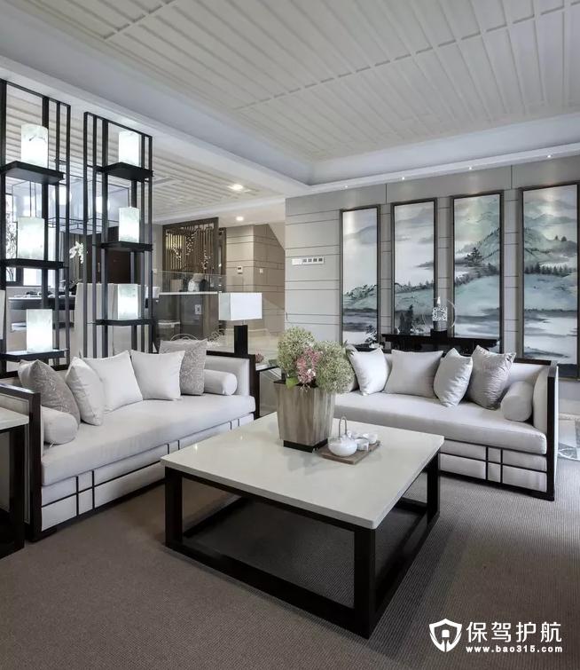 中式客厅装修,明窗净几。