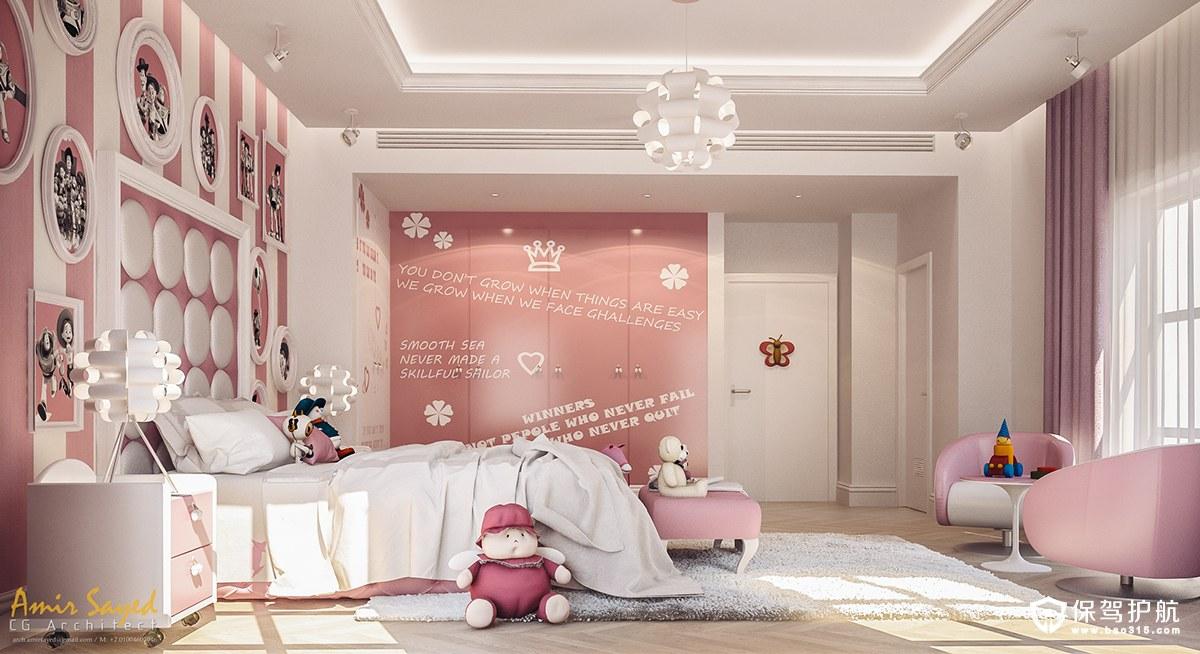 每个小公主宝贝都喜欢粉红色, 粉红色蝴蝶结,粉红色公主裙,粉红色水晶包,粉红色的指甲油等等... 小编今天给要介绍一个真正的粉红色公主世界的卧室设计,这间公主卧室打破了一般常规粉色的定义,与风格。 它拥有古典和现代文化元素的现代小公主风格。 一起来欣赏下吧~