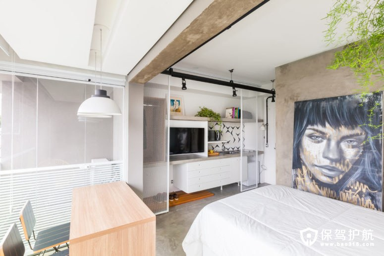 这间小型简约公寓居然有这么大的功能!