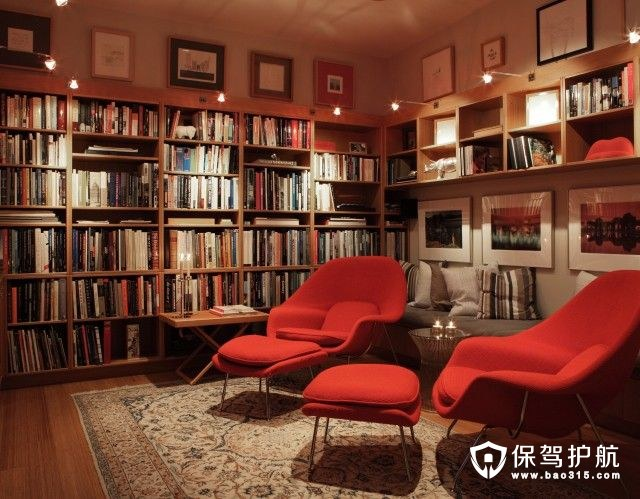 各種書房裝修圖,家的面積再小也要塞下一間書房