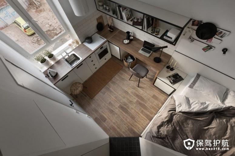 如何装修超小户型的单身公寓?看看人家怎么装的!