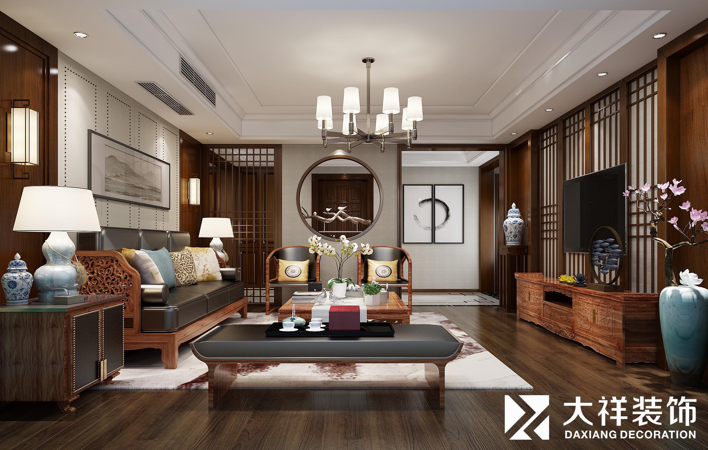龙溪翡翠160方现代中式风格