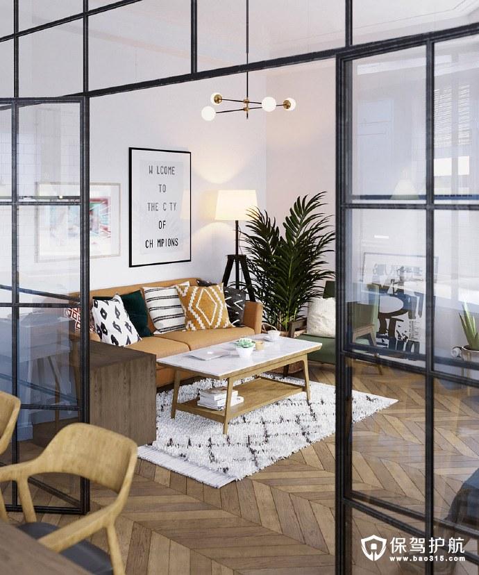 不爱不行!75平米斯堪的纳维亚风格公寓设计