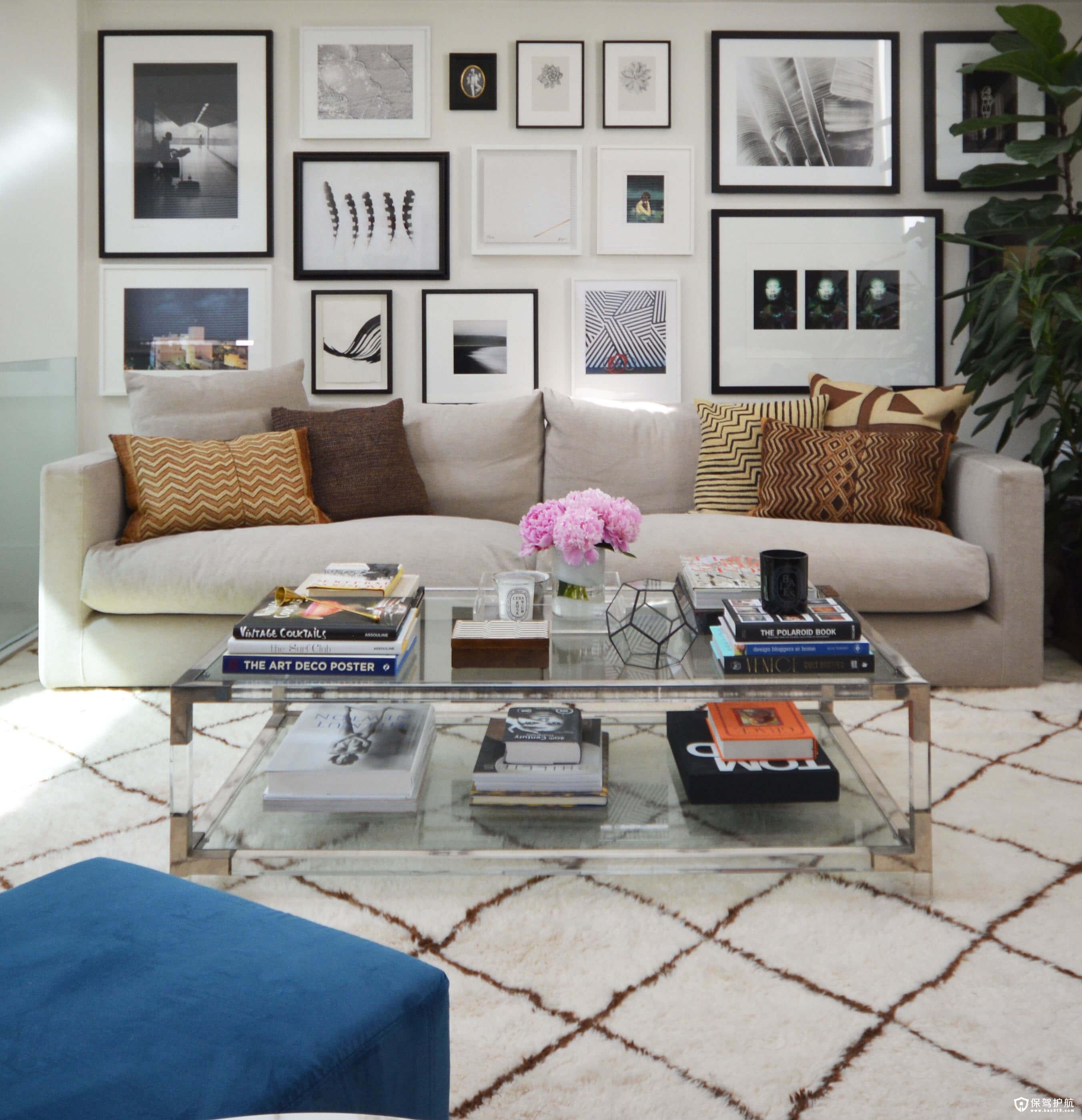 """客厅装饰如何运用""""三法则""""实现效益"""