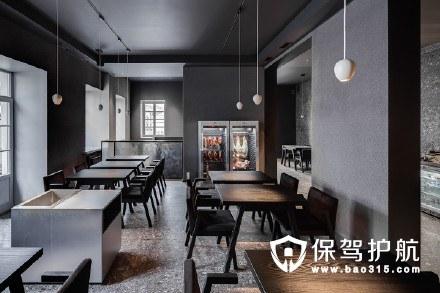 暗色系餐厅装修案例