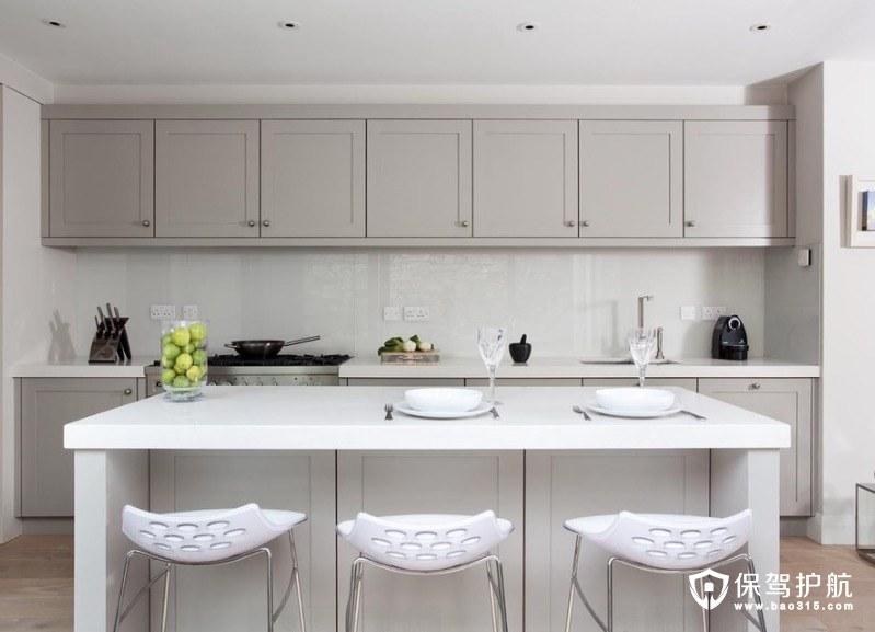 现代厨房橱柜的想法为经典的外观!