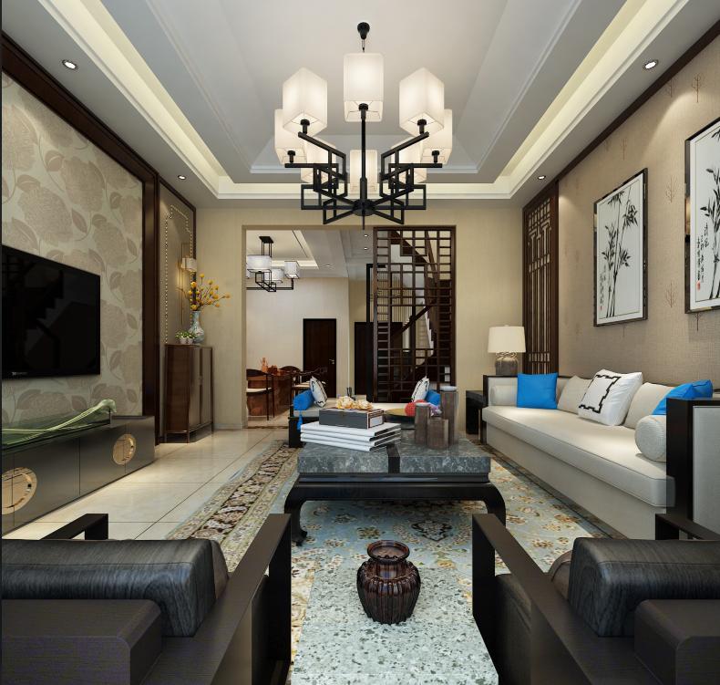 别墅区经典新中式风格