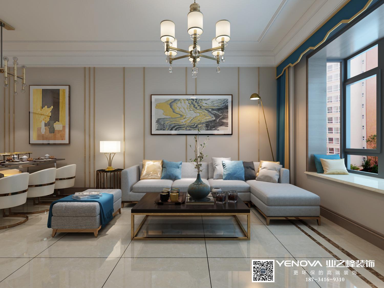 朝阳佳苑98平米现代简约风格装修效果图案例——太原业之峰装饰