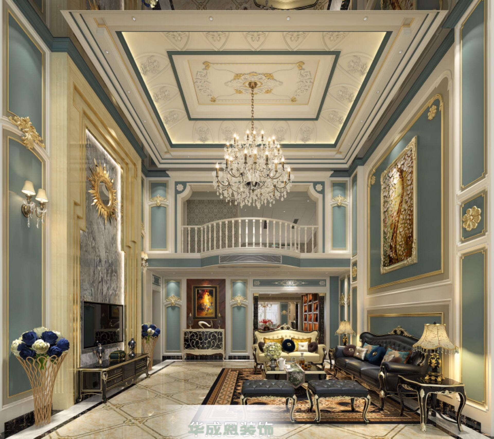 蓝色浪漫+法式奢华=别人家的房子~~