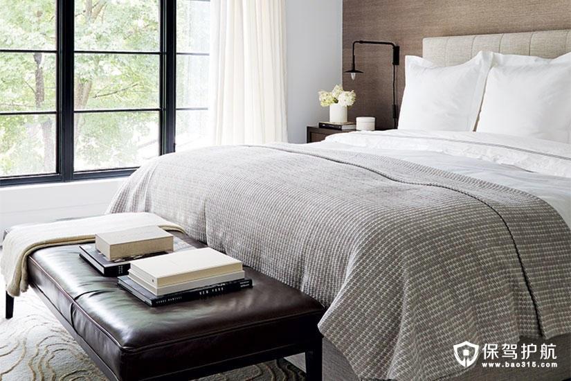 【设计】精致而宁静的主卧室设计给你放松心情