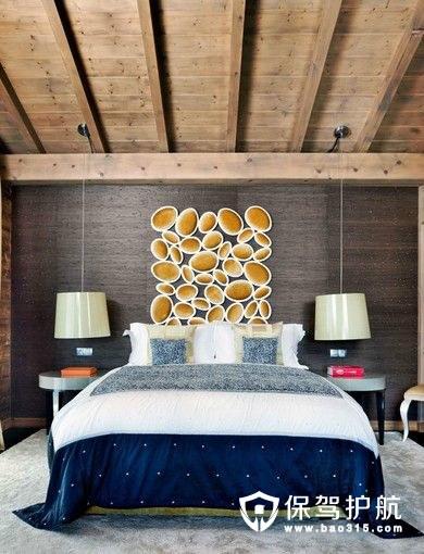 生态木吊顶效果图,家中的一股清凉