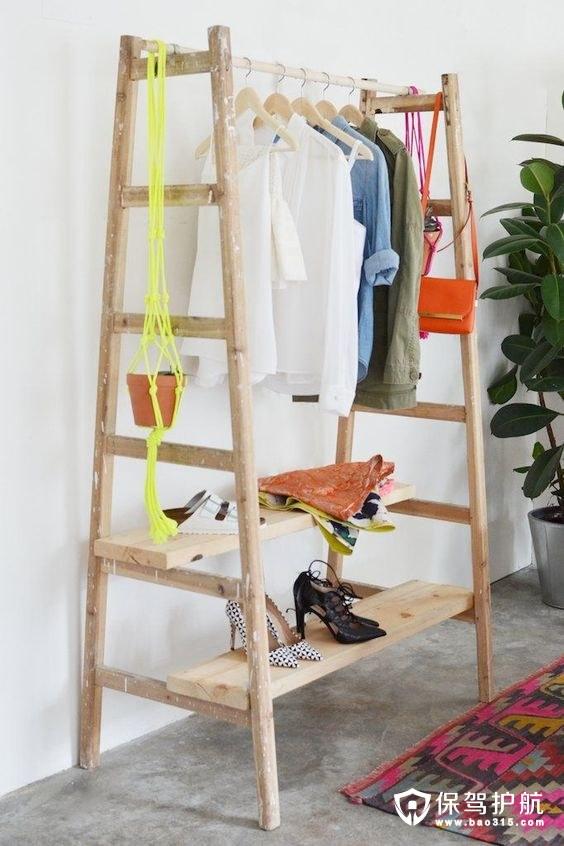 【干货】教你如何不用衣橱,也能打造一个独一无二的衣物收纳空间
