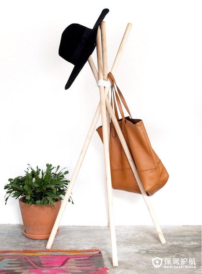 【家居DIY】教你DIY一个好看又简洁的衣帽架