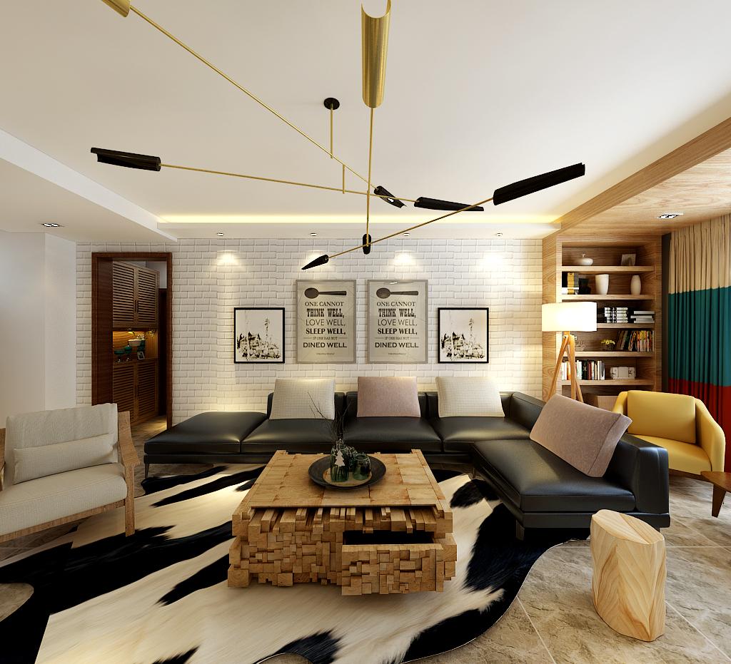 120㎡极简北欧,简单色调,理想中的住宅