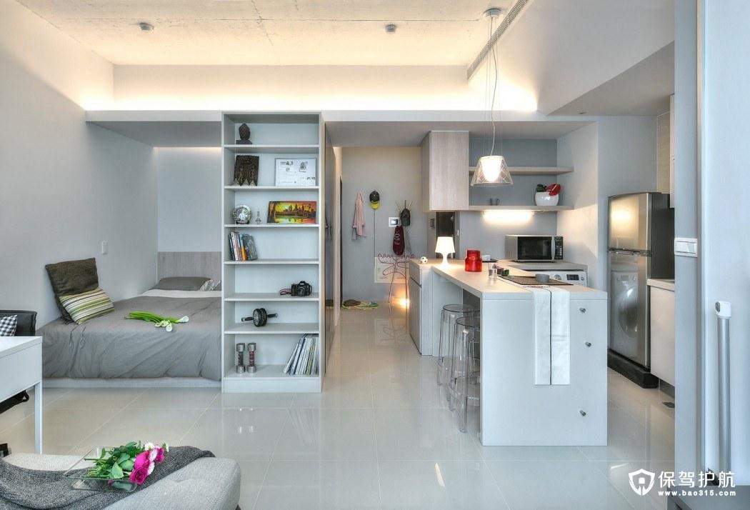 【案例】这套台北单身公寓装修充满了巧妙的设计策略