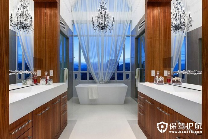 现代经典风格浴室设计,高端大气之选!