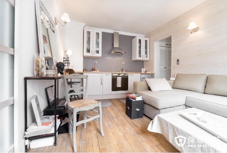 白+灰=极简风格,这间小公寓的装修风格年轻人最爱