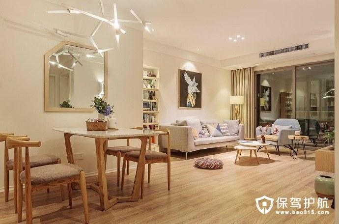 白墙与原木的小户型家装装修风格,照样温馨感爆棚