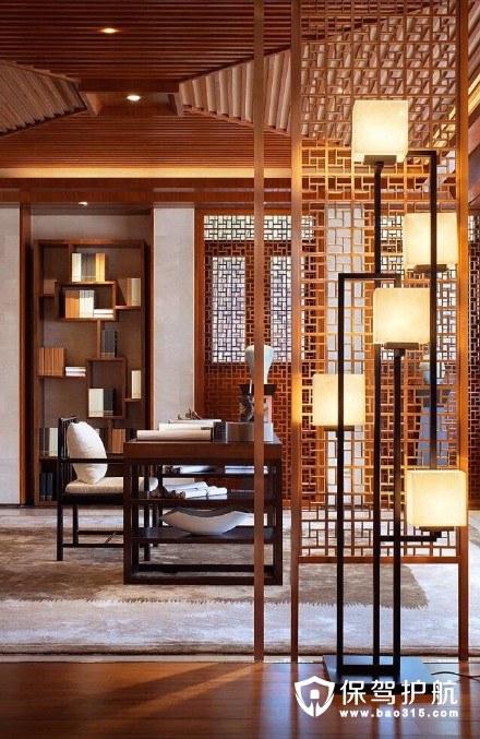 再加一个爱看书的他,我们相拥入眠相背读书——中式书房装修