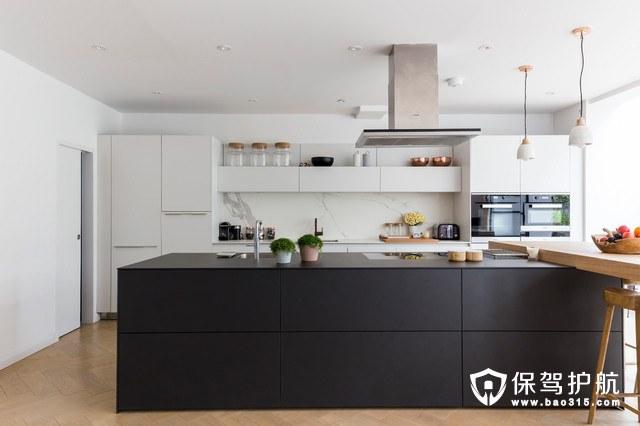 想为这组开放式厨房的设计想法爆灯!