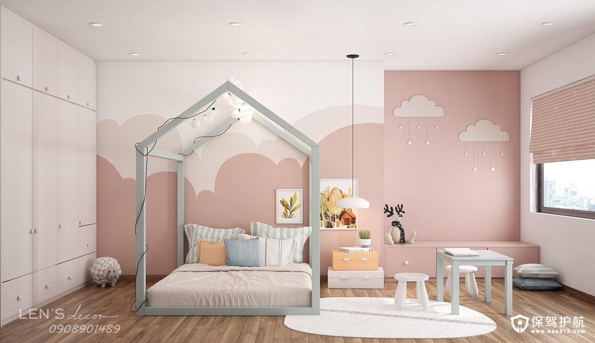 【儿童房装修理念】柔和色调碰撞理念的儿童房装修,童真小天地!(一)