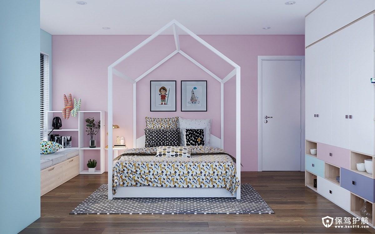 【儿童房装修理念】柔和色调碰撞理念的儿童房装修,童真小天地!(二)