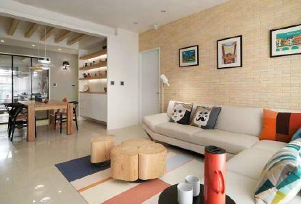70㎡两居室充满爱意的温暖小窝