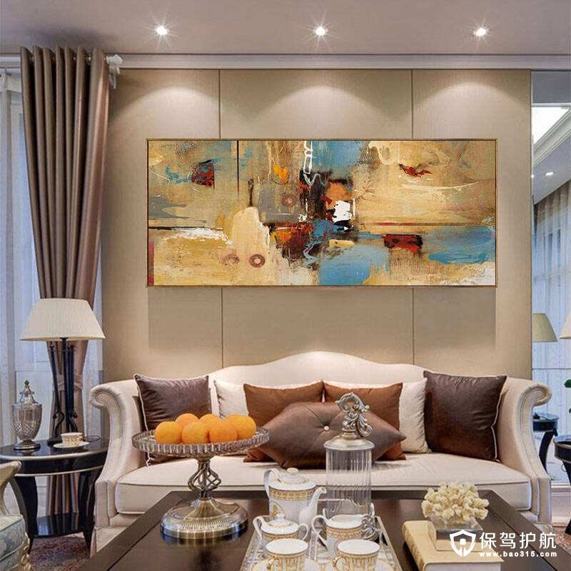 客厅沙发背景墙挂什么对家里的风水好?