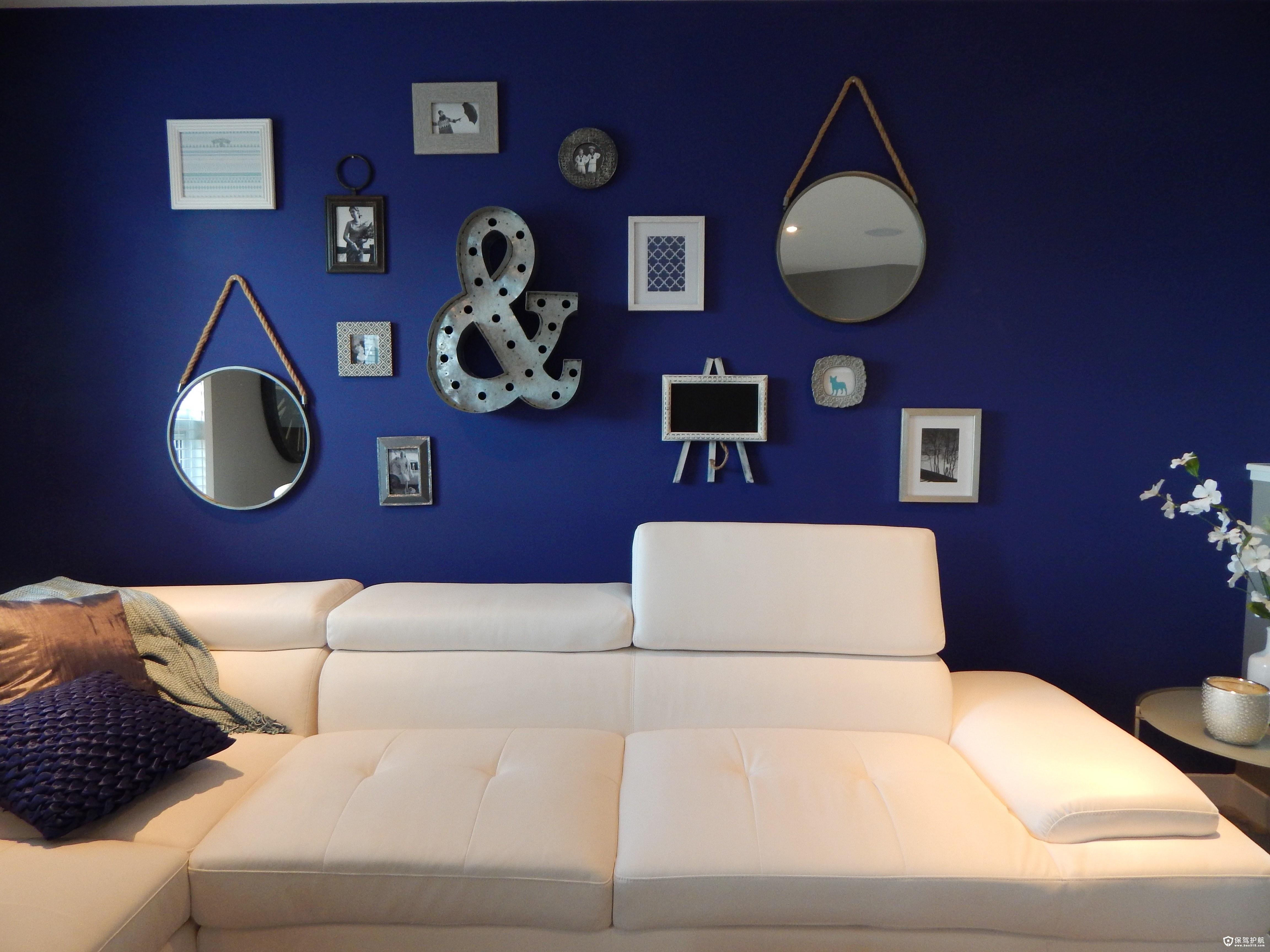 很适合的宜家风和美式风都很装修这种客厅的背景墙,图案中的上图流行哪种背景做颜色墙最棒图片