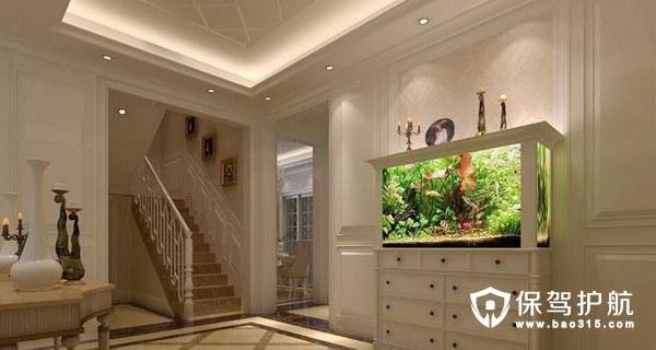 客厅放鱼缸最好的位置