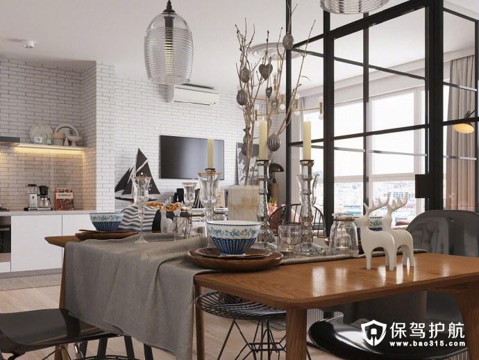 45平基辅小公寓,小户型装出了大空间的感觉!