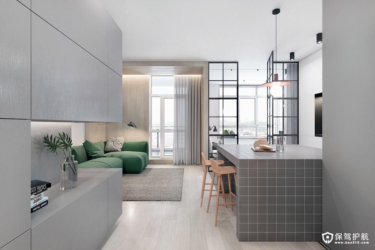 单身公寓装修 经典时尚的单身公寓装修案例,住了还会单身?(一)