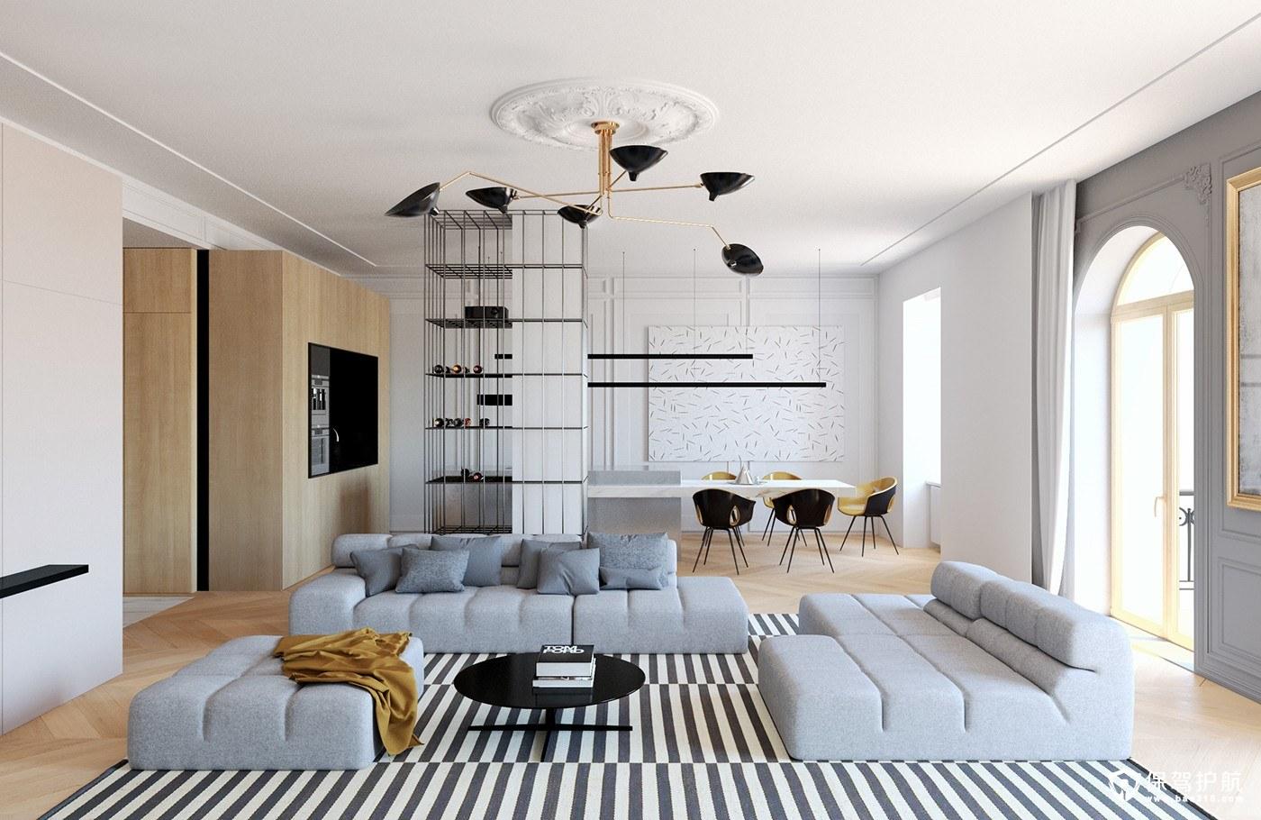 现代风格装修,拥有两种过渡性的现代装饰与古典特征!(上)