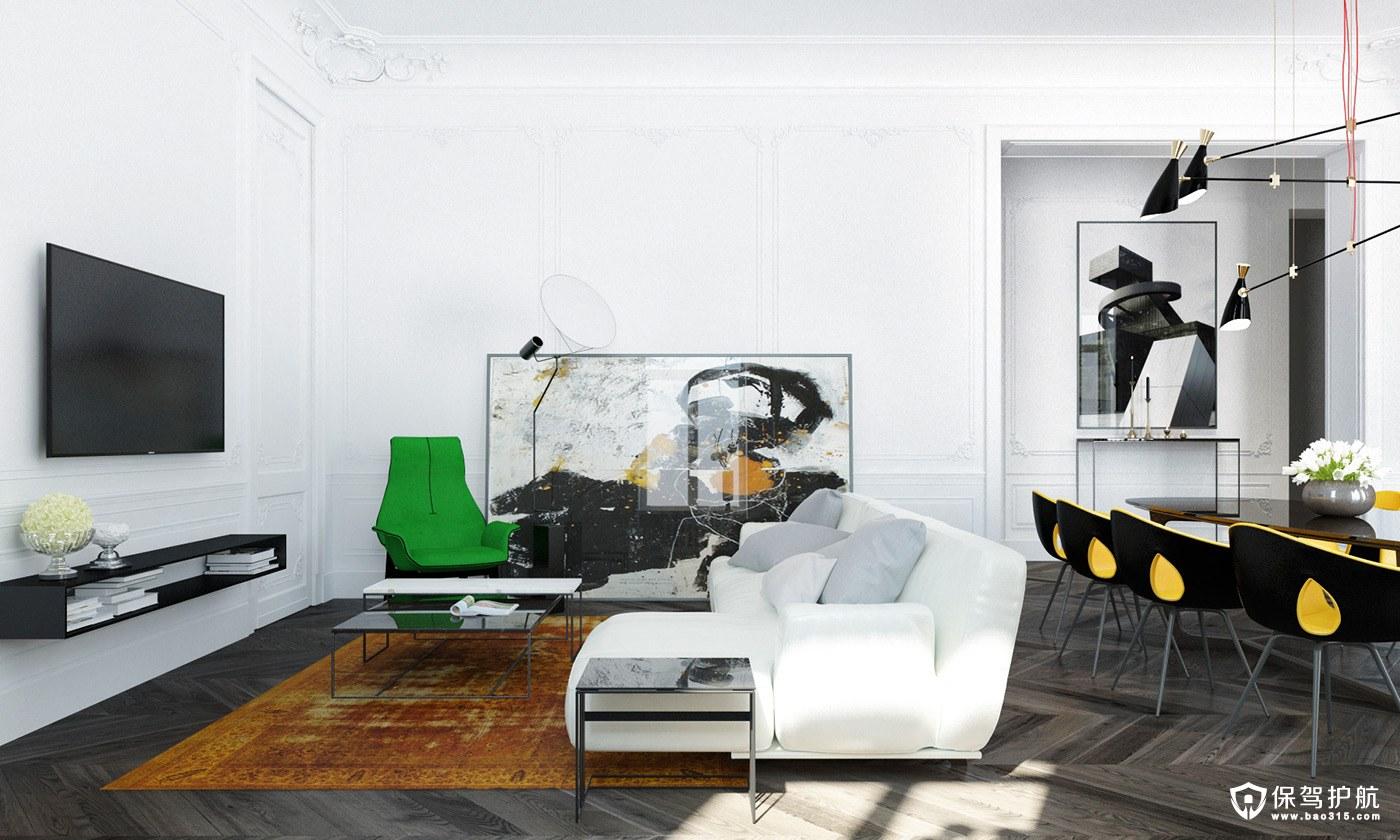 现代风格装修,拥有两种过渡性的现代装饰与古典特征!(下)