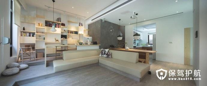 功能性强大的日式复式客厅风格,忍不住给自己家也装修了!