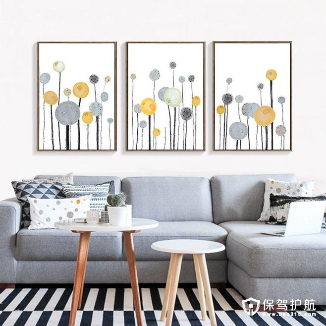 【家居装饰】教你简单搭配现代简约客厅沙发挂画!
