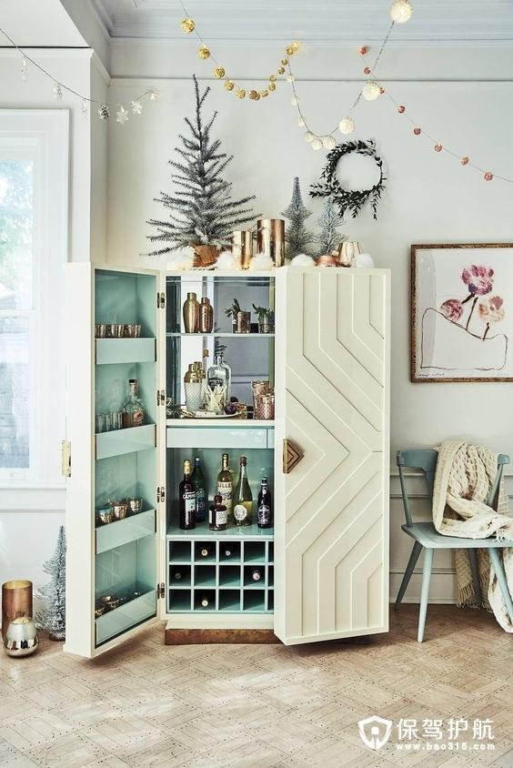 客厅酒柜装饰图赏 ,打造精致生活品味!