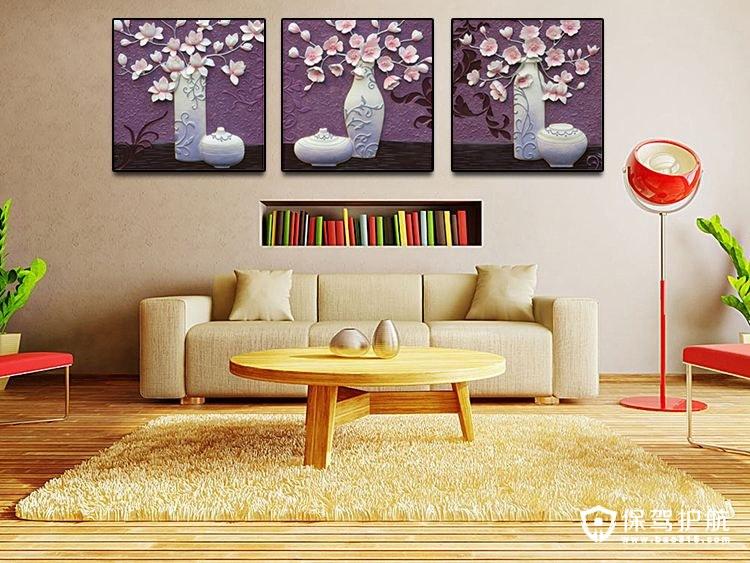 客厅三联装饰画尺寸买多大?三联画的选购注意事项!