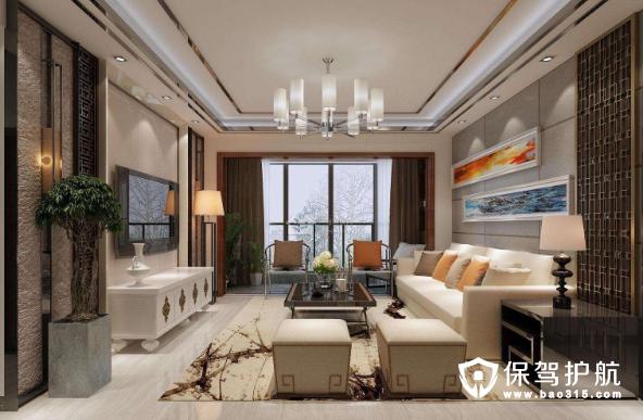 新中式裝修客廳燈尺寸一般是多大?