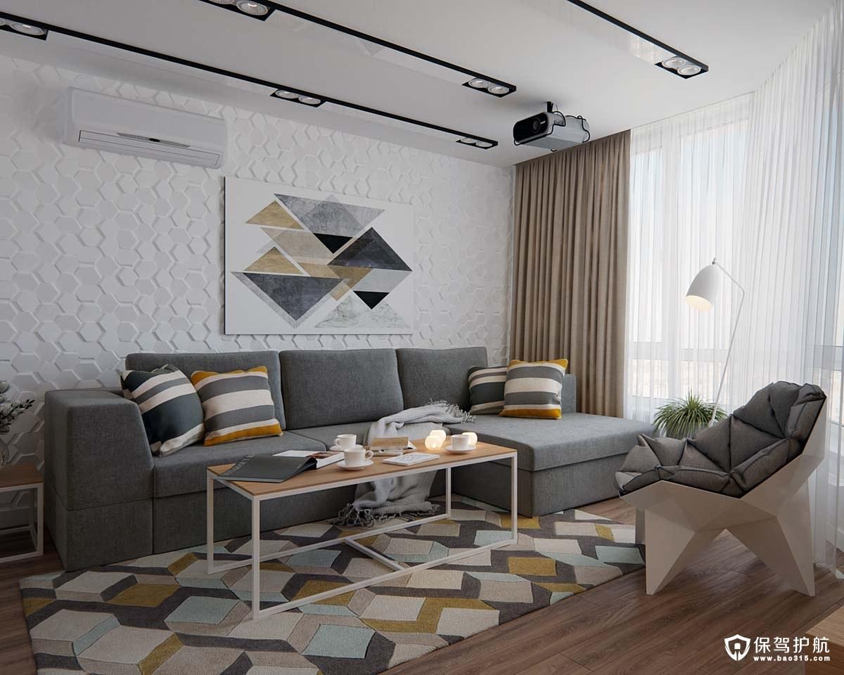 极简主义风格装修效果图 这套极简主义风格装修,主打环保!
