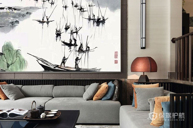 中式客厅施工方案3