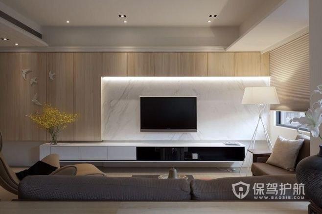 装修客厅电视背景墙简约风格客厅电视背景墙设计 保驾护航装修网
