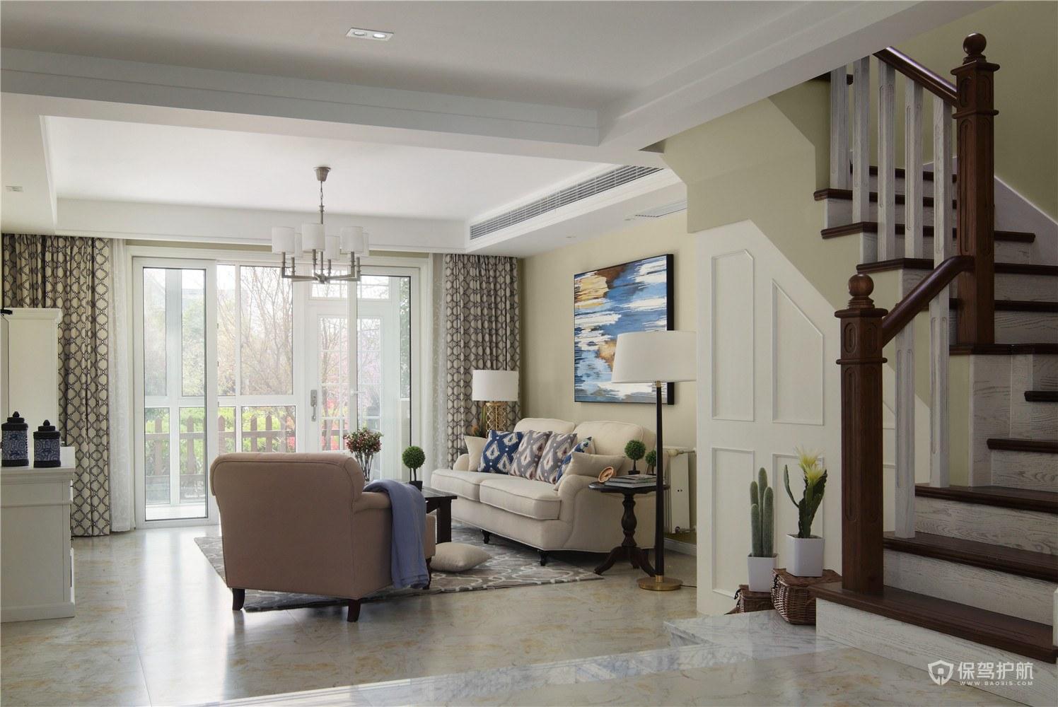 客厅二级吊顶结构效果图