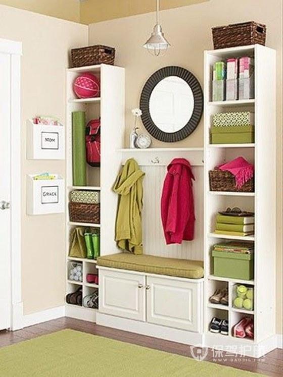 鞋柜适合放在客厅什么位置?