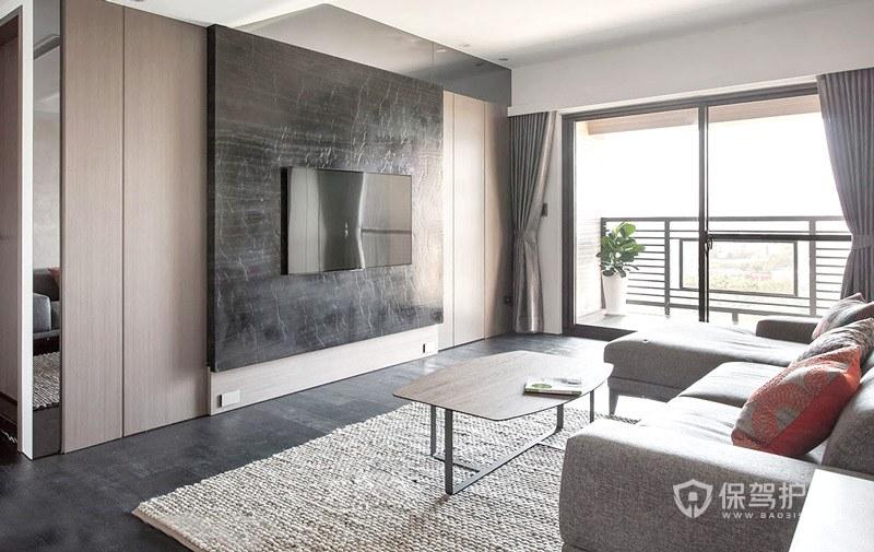 客厅电视石材电视墙怎么装修好看?